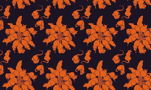 mousey floral pattern