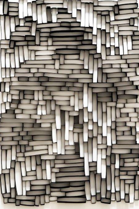 Oirgen Artificial.madera. Horizontal y vertical. Patròn regular continuo. Alto Relioeve. Estetico