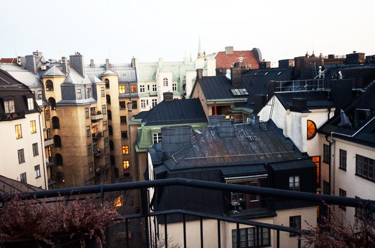 a view from a flat in Stockholm / photo by Elsa Billgren