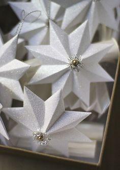 Estrella de papel Glittered Adornos   Urbano Confort