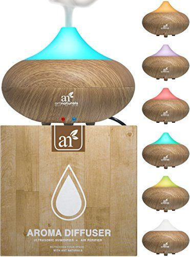 This sleek and sculptural wood grain diffuser is the ideal way of bringing aromatherapy to your home! Buy the Artnaturals Essential Oil Diffuser with no heat ultrasonic technology.