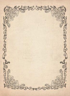 Papier ancien avec arabesques