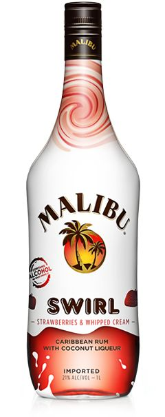 { Drink! }---Swirl.  Fresh strawberries, whipped cream and coconut make a delicious combination that tastes like a treat with every sip of Malibu Swirl.