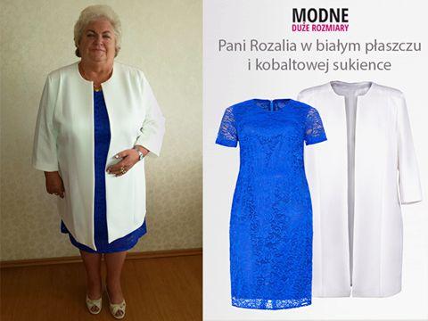W naszej wrześniowej galerii witamy Panią Rozalię, która ma na sobie zestaw składający się z kobaltowej, koronkowej sukienki i białego fakturowanego materiału ;) Ten elegancki komplet świetnie pasuje na wesele lub uroczystości rodzinne. Jak Wam się podoba strój Pani Rozalii? (y) Płaszczyk z fakturowanego materiału zobaczysz tutaj http://bit.ly/2c5pzg9 Kobaltową koronkową sukienkę zobaczysz tutaj http://bit.ly/2cgRkC4