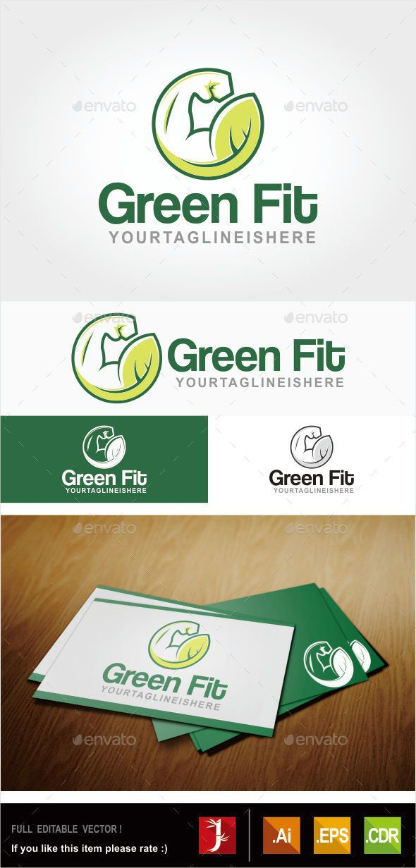Green Fit - Logo Design Template Vector #logotype Download it here: http://graphicriver.net/item/green-fit/10880085?s_rank=1090?ref=nesto