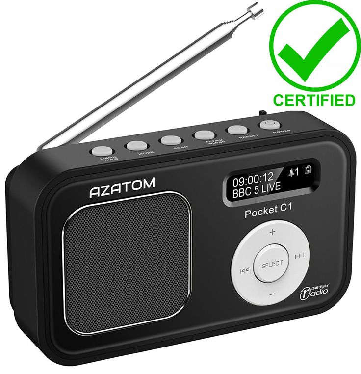 Azatom c1 dab + radio clock #alarm pocket portable travel charge #battery #black,  View more on the LINK: http://www.zeppy.io/product/gb/2/201718392811/