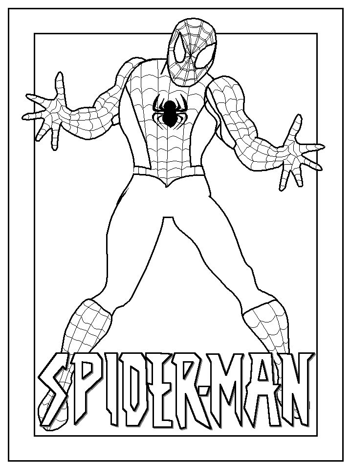 spider man coloring sheets for kids | Print and color our free spiderman coloring pages . Do you know other ...