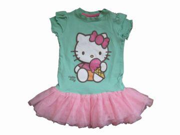 Jurk Mint met roze tule en Hello Kitty opdruk Merk Hello Kitty Maat 68