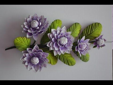 Mega Flores - Flores em EVA - Ninféia (passo a passo) - YouTube