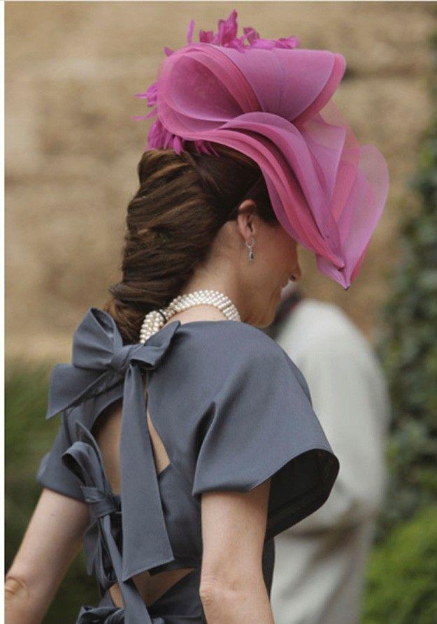 Invitadas con tocados diferentes y elegantes!!!