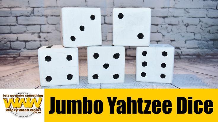 Jumbo Yahtzee - Off the Cuff - Wacky Wood Works.