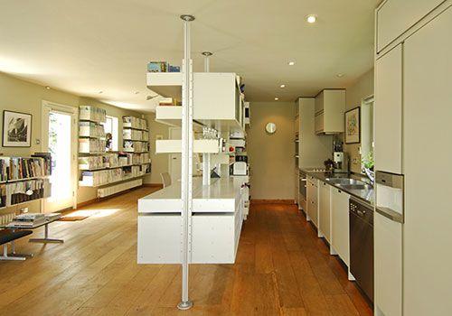 Kitchen/desk storage for Studio idea | SPATIAL AESTHETICS