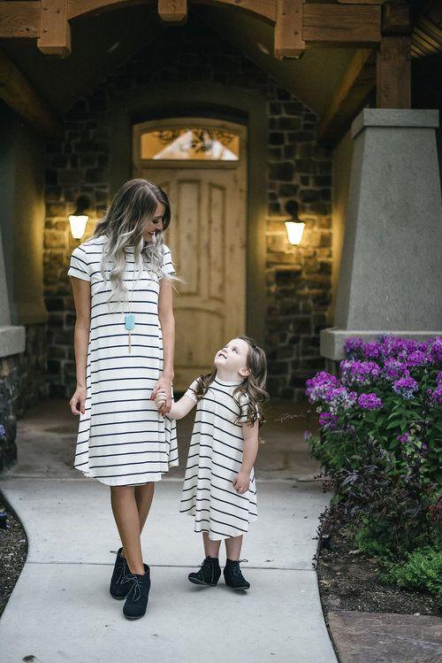 Cap sleeve, dress Short Dress, Mommy and me, Matching Dress, Stripe Dress…