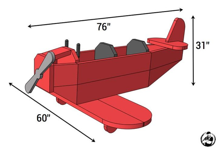 Airplane Play Structure Plans - Dimensions