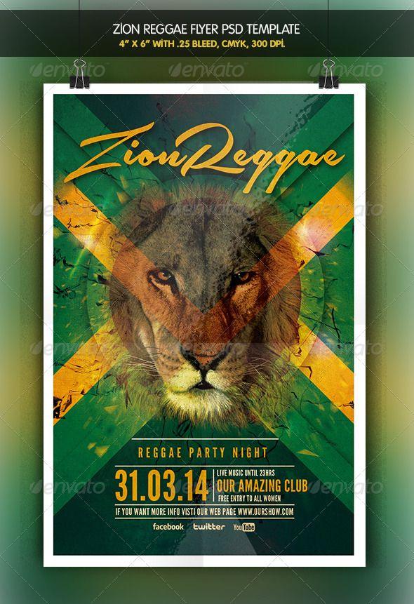 Zion Reggae   Reggae Party Flyer