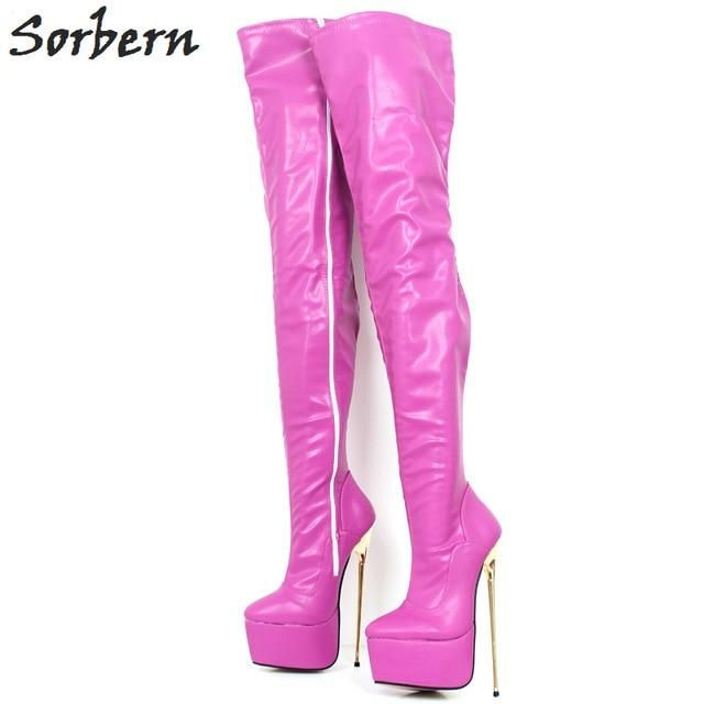 """Details about  /PLEASER Sky-1016 7/"""" Heel Ankle-High Boot"""