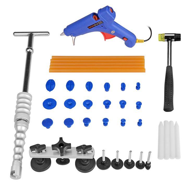 PDR Tool Kit Dent Removal Car Dent Repair Paintless Dent Repair Tools Slide Hammer Glue Gun Glue Sticks Tools Kit Ferramentas #Affiliate