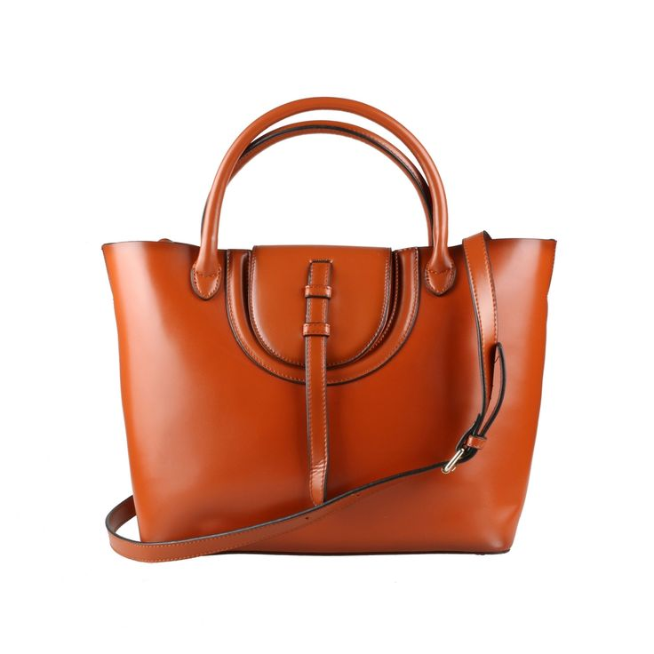 Brown Leather Tote Shoulder Bag via Women's Fashion Bags. Click on the image to see more!