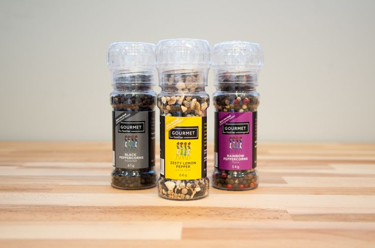A must have in any kitchen. Pepper adds an excellent depth of flavor to almost any dish. Try our Black Peppercorns, Zesty Lemon Pepper and Rainbow Pepper. Available in grinders or as a refill.