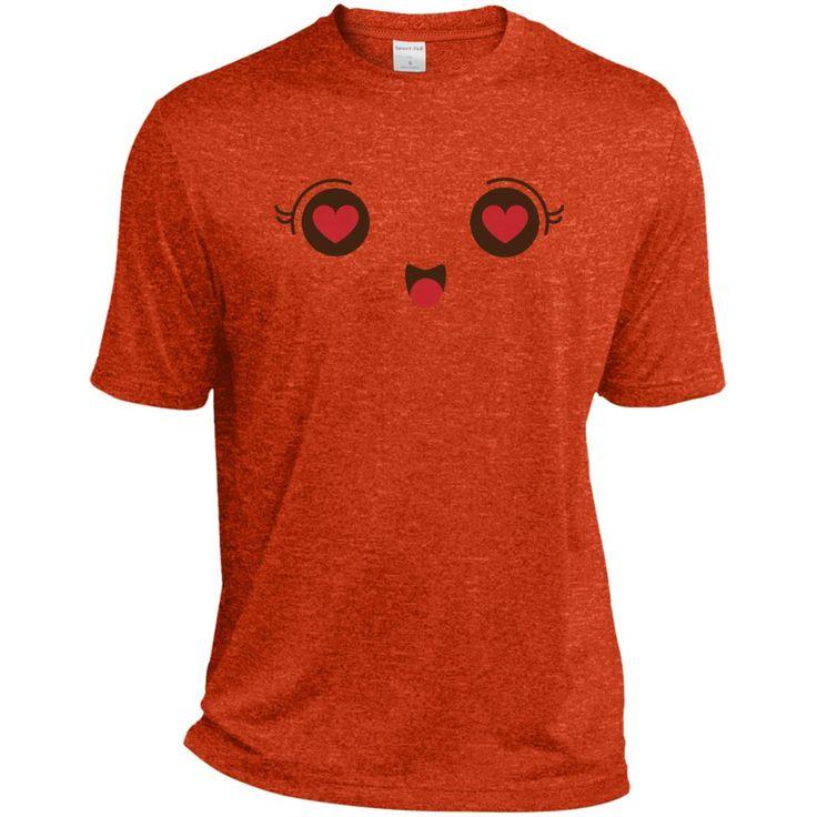 Heart Eyes Face Emoji 1 ST360 Sport-Tek Heather Dri-Fit Moisture-Wicking T-Shirt