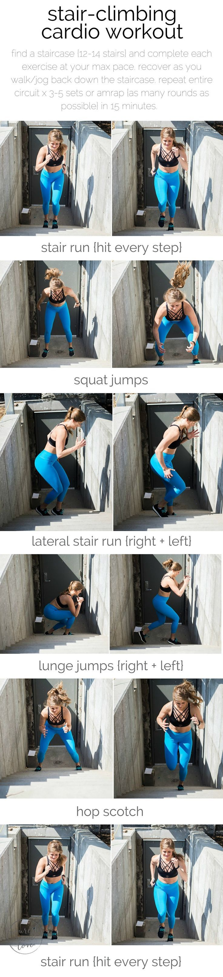 stair-climbing cardio workout   the ultimate stair-climbing, cardio workout for serious fitness gains {and a lifted booty}.   http://www.nourishmovelove.com