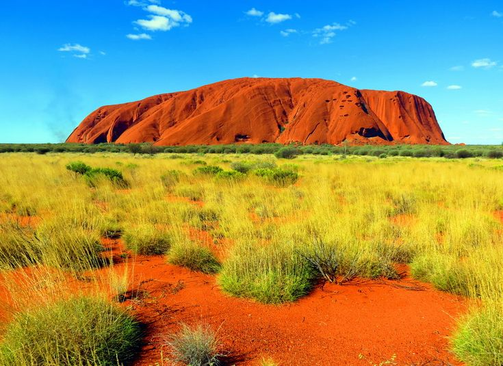 Australia's Uluru Glows Red  #travel #nature
