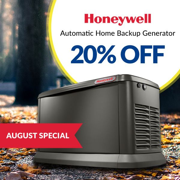 Now through August get 20% OFF Honeywell Home Backup