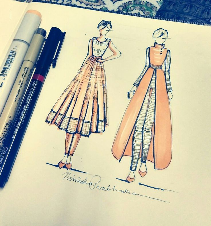 The Indian Fashion. Drew while I was on the travel. To the Isha Yoga Center. Coimbatore. Love the Indian styles.
