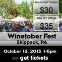 Join us, Saturday October 12, 2013. Wine Food Music so much FUN!