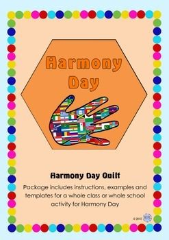 Harmony Day celebrates that everyone belongs. It encompasses cultural diversity, tolerance and individuality. It is held every year on March 21, coinciding with United Nations International Day for the Elimination of Racial Discrimination. This package provides resources for teachers, educators, community groups or schools to celebrate the day by creating individual flags representing each child or person and their cultural diversity.