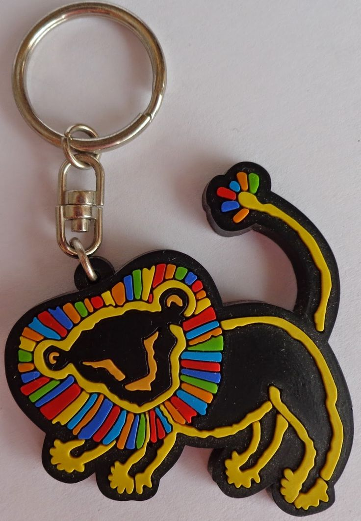 The Lion King Musical rubber keychain