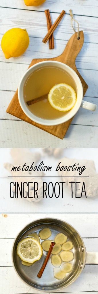 Ginger Root Tea Recipe - Ginger Tea - Metabolism Boosting Food and Drink Ideas - @It All Started With Paint www.itallstartedwithpaint.com