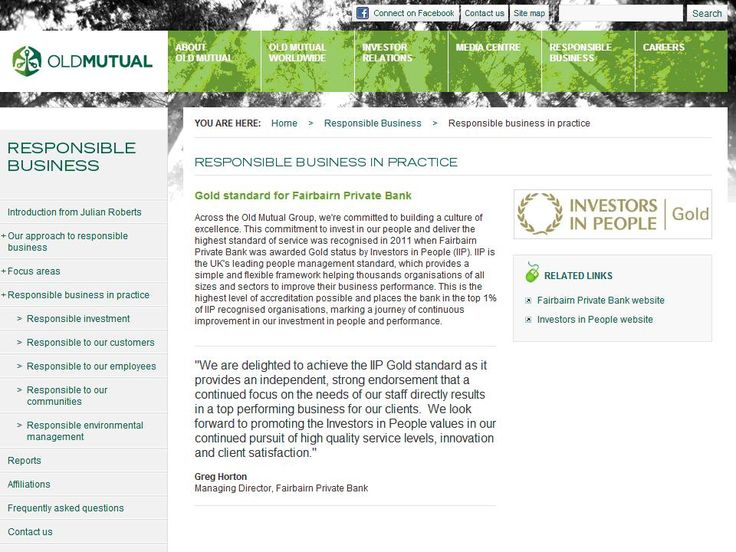 Fairbairn Private Bank awarded IIP Gold