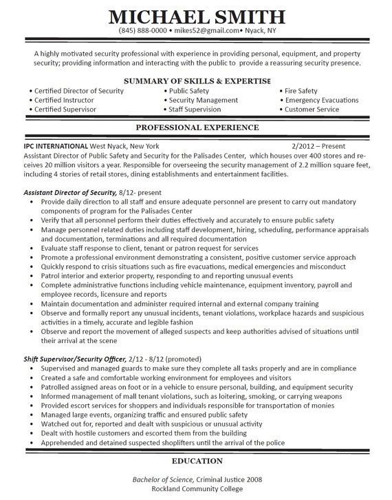 40 best Resume Writing and Design images on Pinterest Resume - criminal justice resume examples
