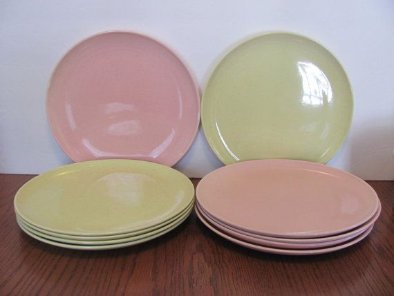 Taylor Smith & Taylor Pebbleford Dinner Plates by MamabirdsVintage, $60.00
