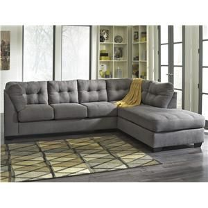 Maier - Charcoal 2-Piece Sectional with Right Chaise by Benchcraft at Pilgrim Furniture City
