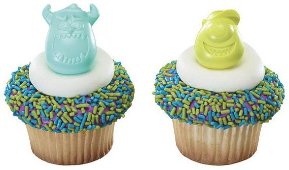 Brand New Included are 12 Asst. Monsters University Cupcake toppers in the designs shown These are great for cupcake and cake toppers. These are