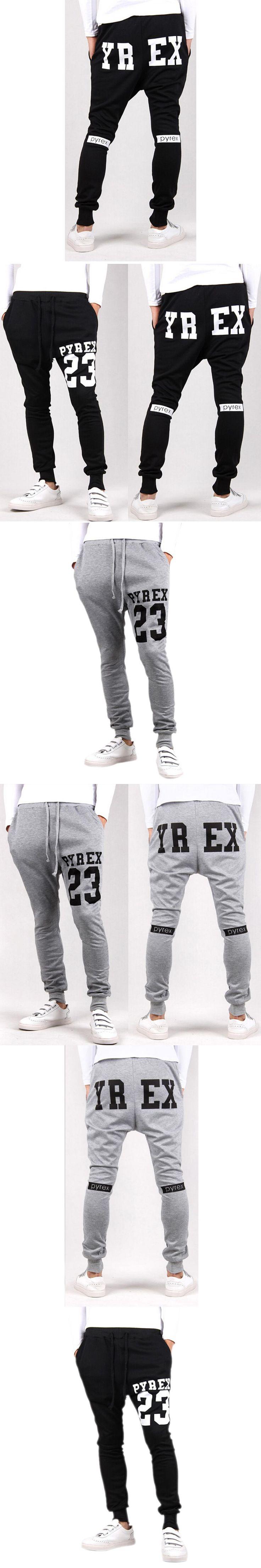 KSFS Baggy tapered bandana pant hip hop dance harem sweatpants drop crotch pants men parkour track trousers black Light Gray