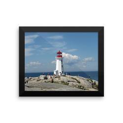 Framed photo paper poster: Peggy's Cove Lighthouse, Nova Scotia