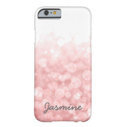Blush pink bokeh transition personalized barely there iPhone 6 case - girly gifts special unique gift idea custom