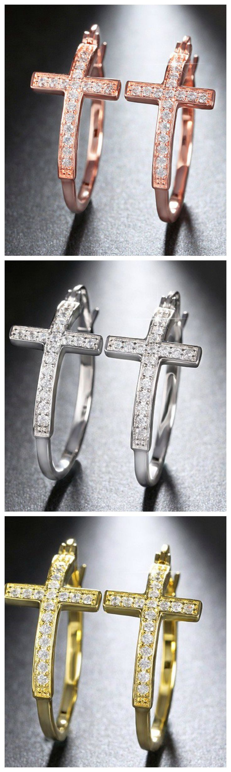Get these Ziphlets cross earrings. Use the code BY310SALE to get 10% off.