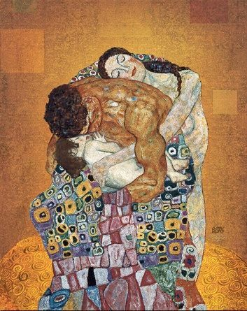GUSTAV KLIMT :The Family - note the skin tones and man's muscles and compare Schiele's work. Klimt was his mentor and main influence.