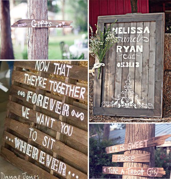 outdoor wedding sings for country rustic weddings