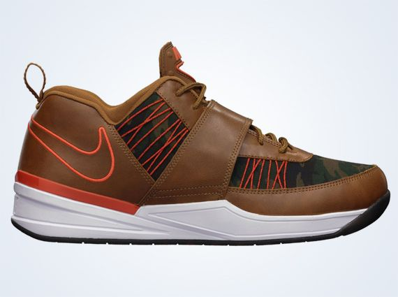 The Nike Zoom Revis TXT EXT Camo release date is official. The shoe,  sporting its tan leather upper and inset camouflage textile, hits retailers  on .