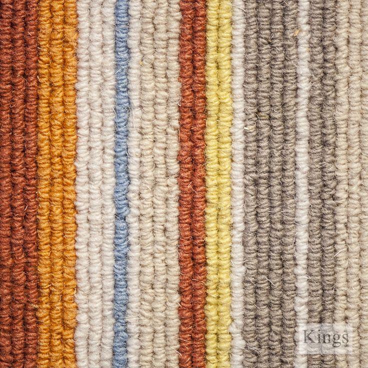 Gaskill Wool Rich Ladbroke Grove www.kingsinteriors.co.uk/flooring/striped-carpet