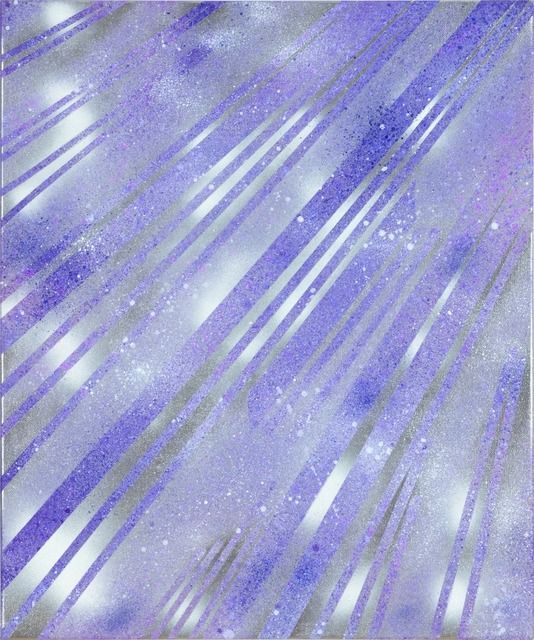 """Alberto Di Fabio """"Speed of Light no. 4"""", 2010. Acrylic on Canvas. #stripes #striped #lines #lined"""