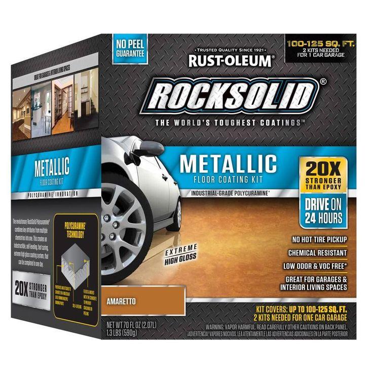 Rust oleum rocksolid oz amaretto brown metallic