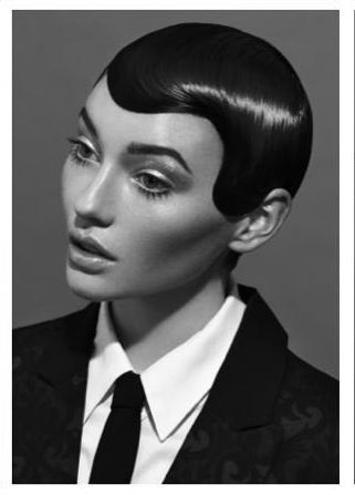 1920's inspired Fingerwaves. Editorial hair.