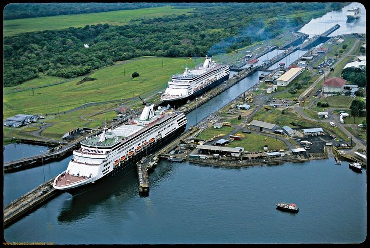 Ship-At-Panama-Canal-1. Again, like the Suez, just incredible an feet of engineering!