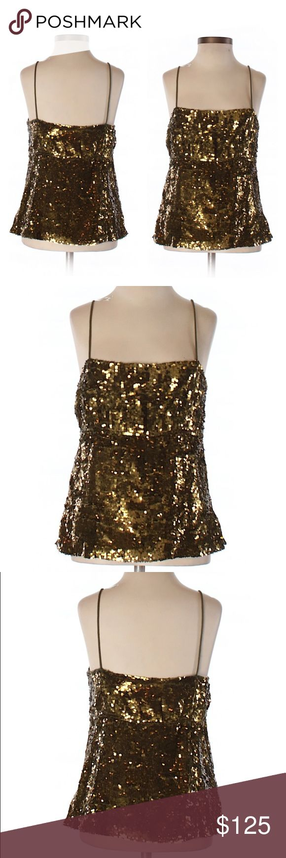RARE! J. Crew Vintage Silk Sequin Gold Cami Tank RARE! J. Crew Vintage Silk Sequin Gold Cami Tank. Perfect condition! Grab this rare fine today. Please ask any and all questions prior to purchasing. If you need more pics, just ask! 😊 J. Crew Tops Camisoles